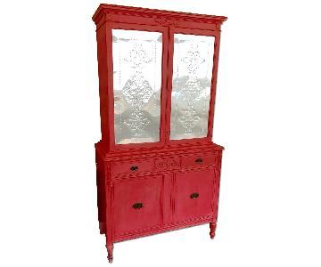 Red Pie Safe Cupboard