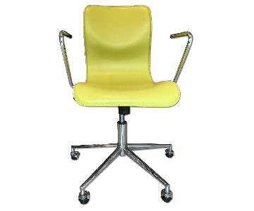 CB2 Leather Office Chair