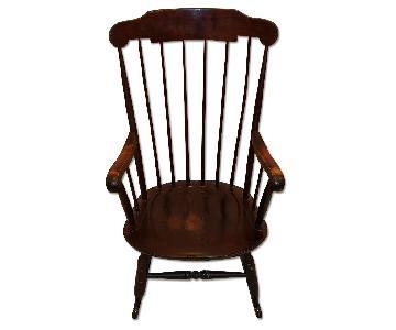 Mahogany Wooden Rocking Chair