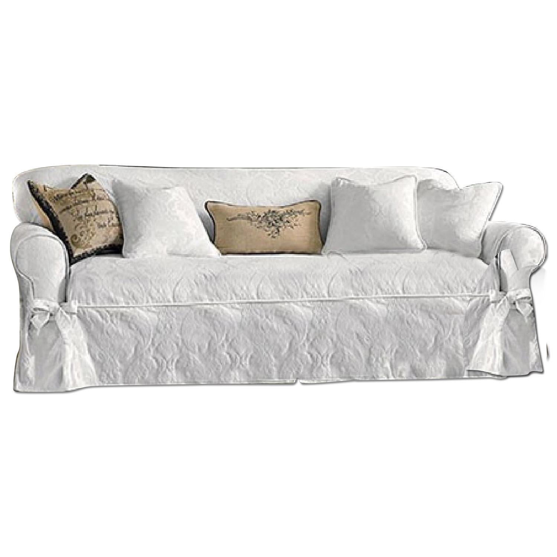 Surefit Matelasse Damask One Piece Sofa Slipcover Aptdeco