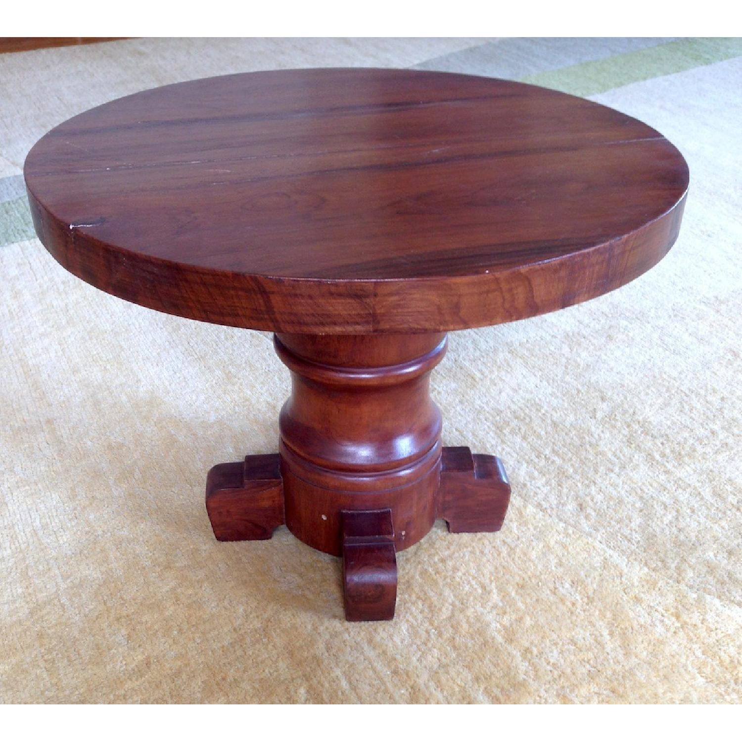 ABC Carpet & Home Round Wooden Table - image-1