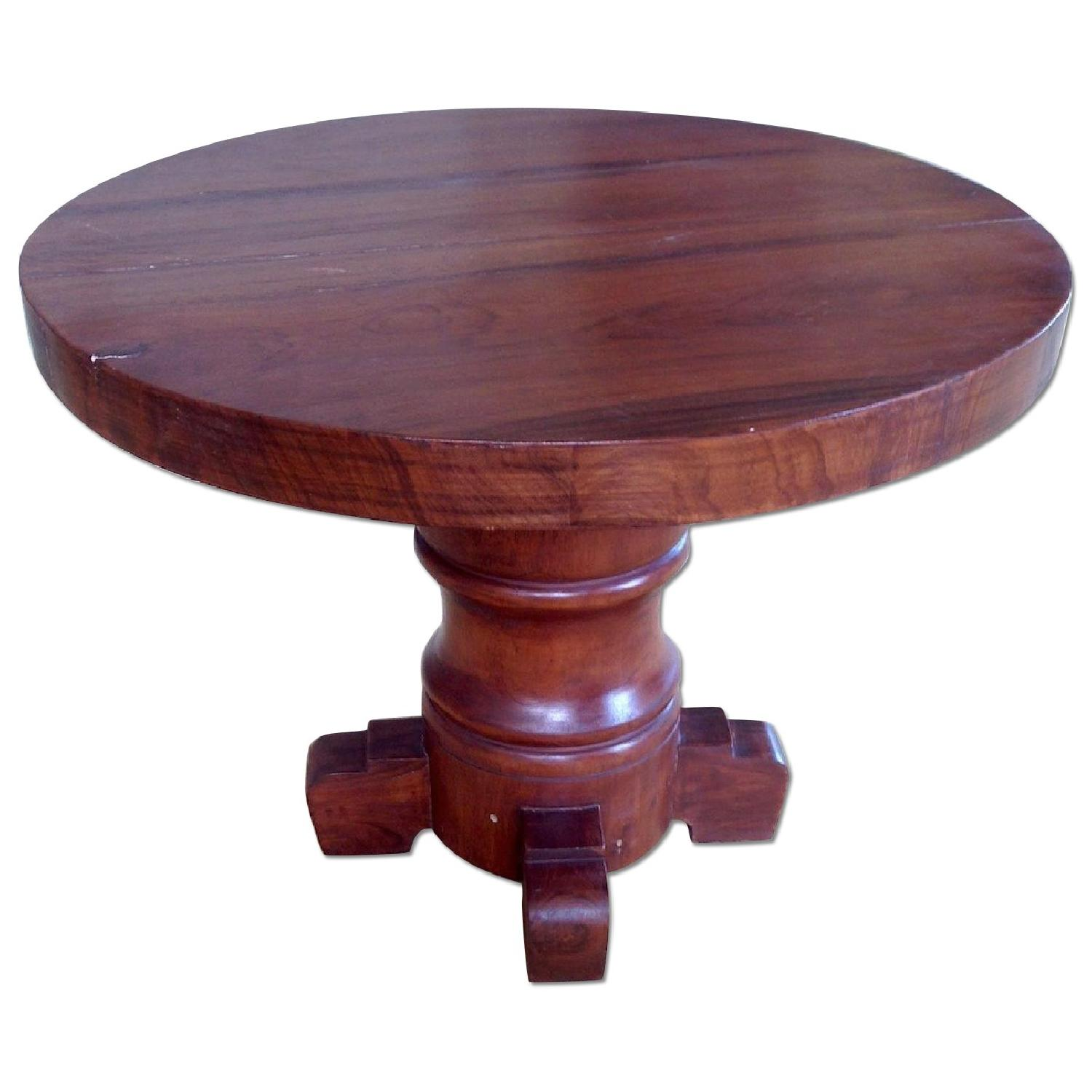 ABC Carpet & Home Round Wooden Table - image-0
