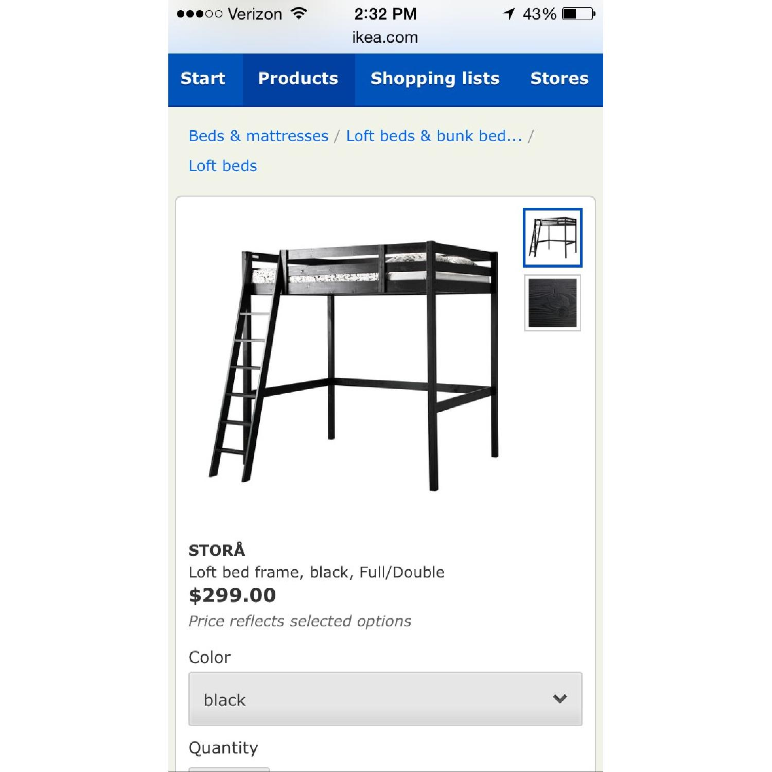 ikea stora full double loft bed frame 0