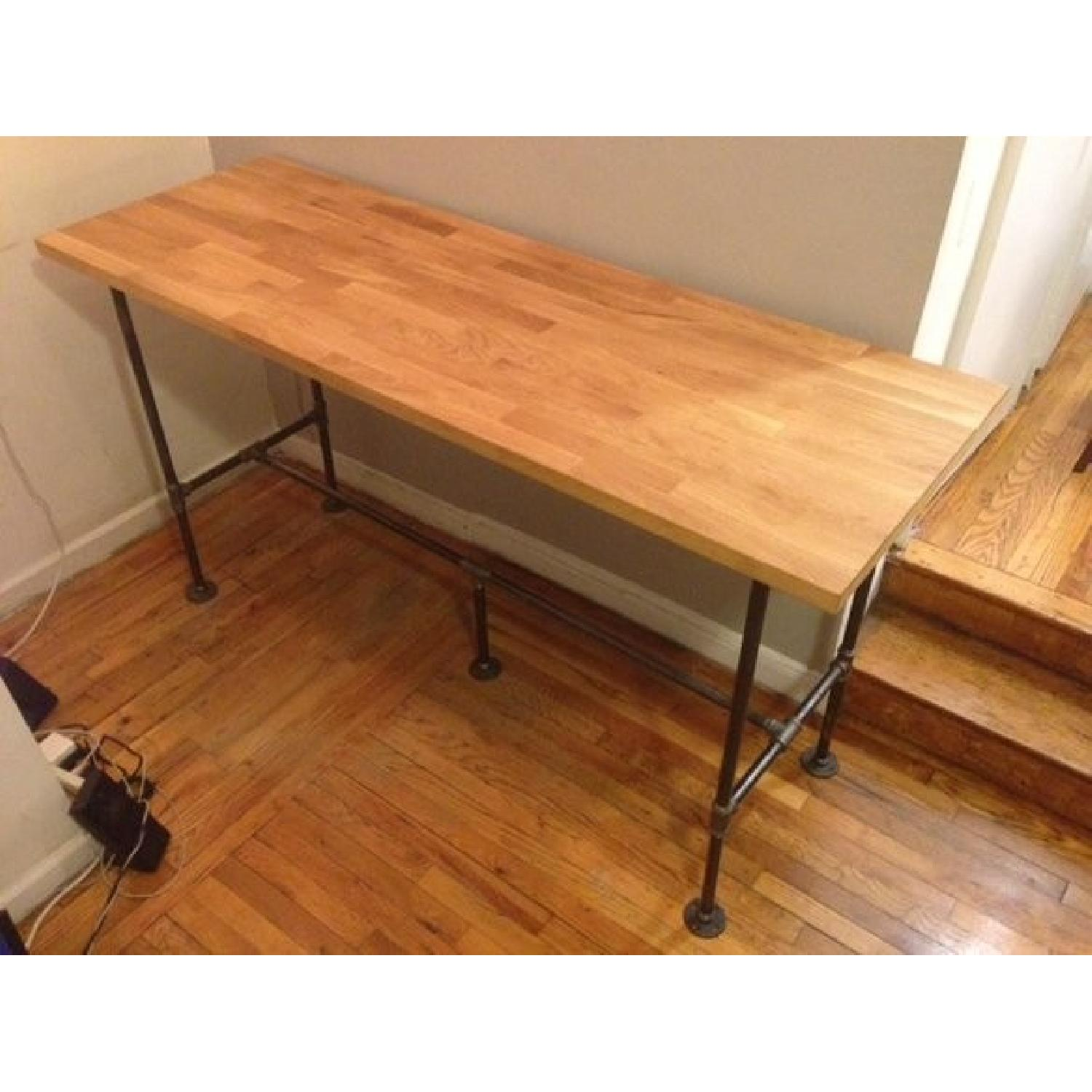 Industrial High Top Table: Industrial High Top Counter/ Dining Table/Standing Desk-4