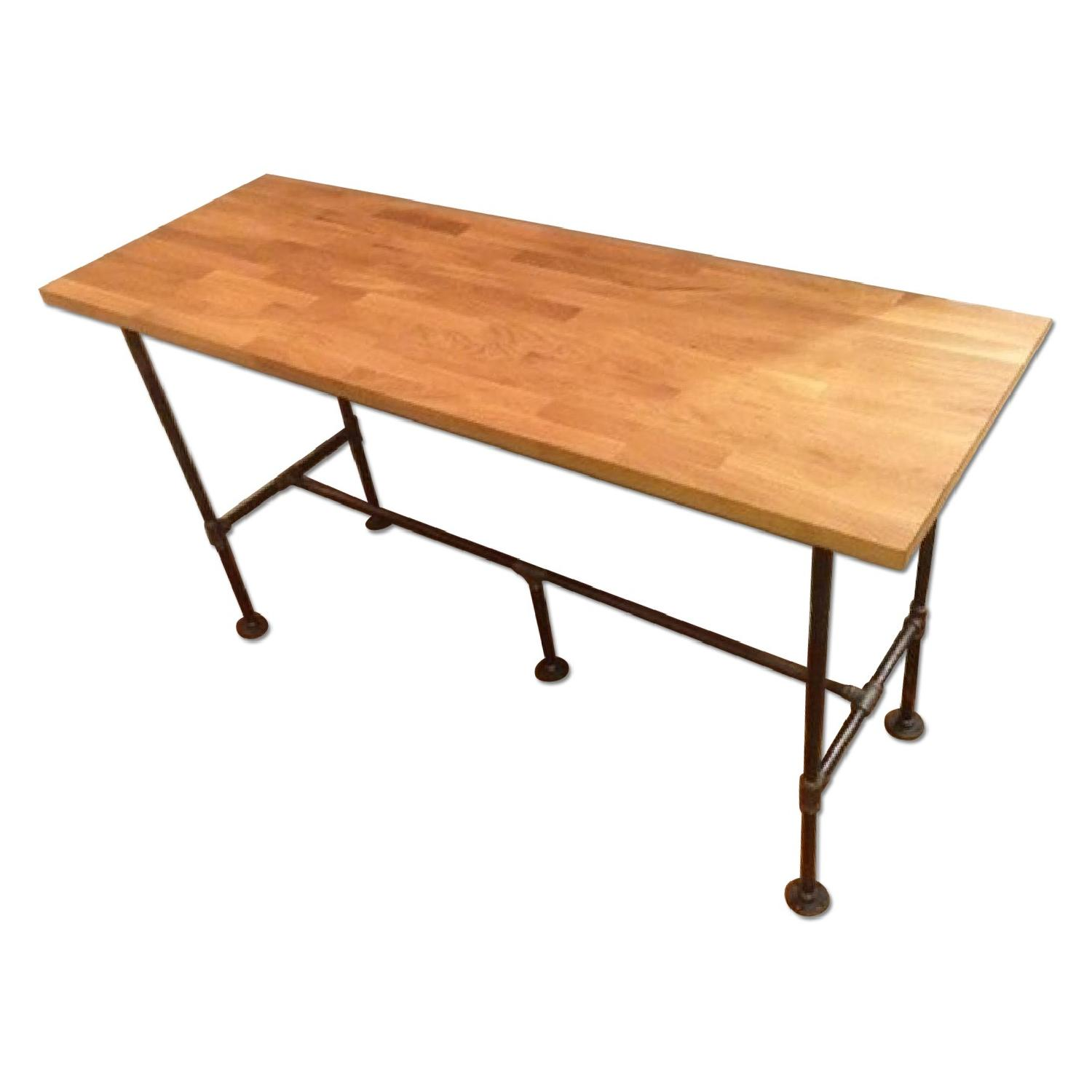 Industrial high top counter dining table standing desk for High dining table