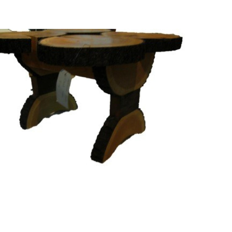 Custom Pine Tree Trunk Coffee Side Table AptDeco