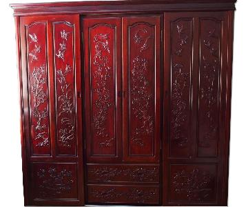 Rosewood Flower & Birds Design Wardrobe