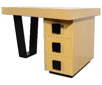 Gilbert Rohde Art Deco Mid Century Modern Asymmetrical Desk