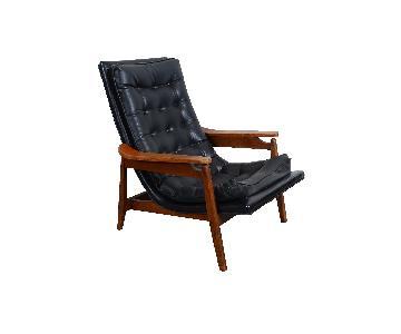 Milo Baughman Walnut Mid Century Modern Lounge Chair