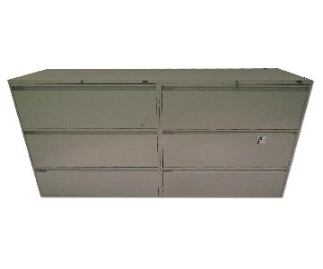 Grey Metal File Cabinet