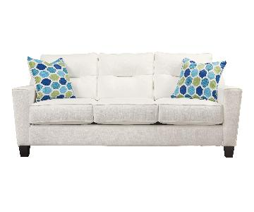 White Nuvella Queen Sofa sleeper