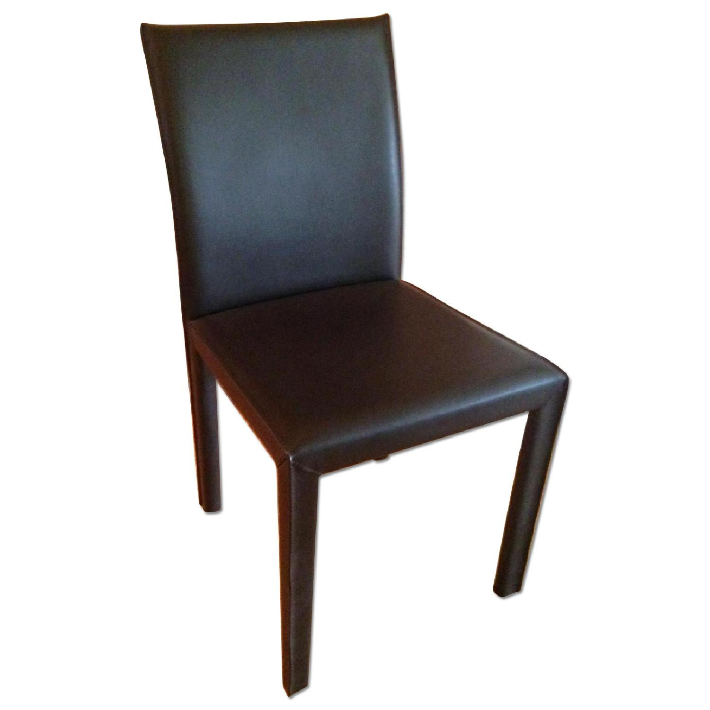 Crate Barrel Curran Carmel Dining Chair AptDeco - Crate and barrel leather dining chair