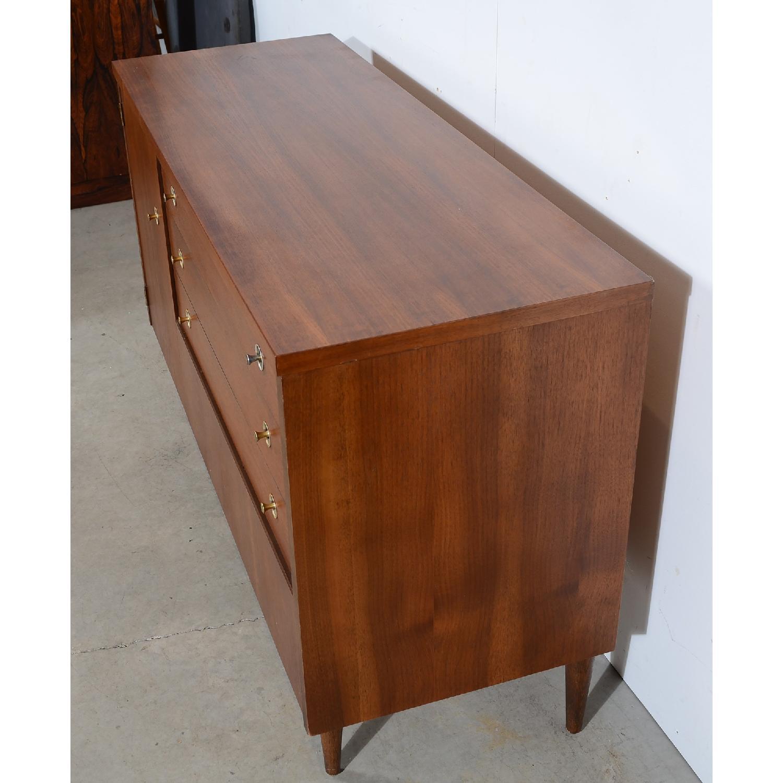 Image of: Bassett Walnut Mid Century Modern Credenza Dresser Aptdeco