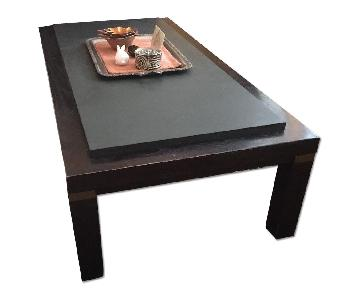 Lord & Taylor Slate Top Coffee Table