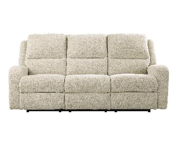 Ashley's Krismen Contemporary Power Reclining Sofa w/ Adjust