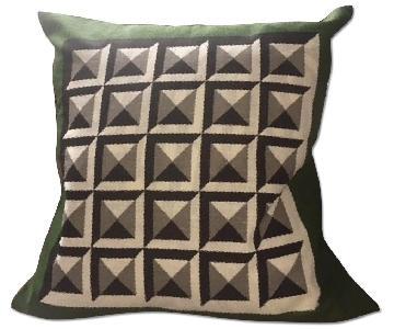 DwellStudio Deco Border Green Pillow Cover