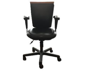 BackSaver Ergonomic Adjustable Leather Task Chair
