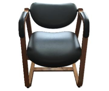 BackSaver Leather Tilt Task Chair