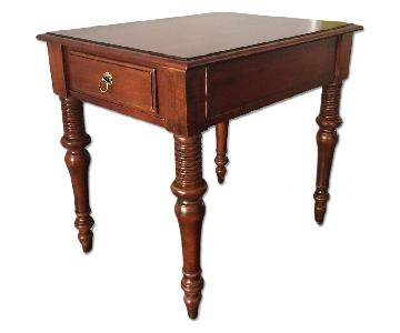 Ethan Allen Carved End Table
