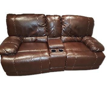 Leather Reclining Theater 2 Seater Sofa
