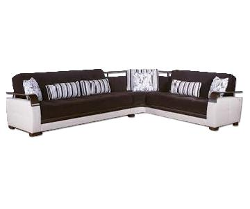Istikbal Sunset Natural Sectional in Colins Brown