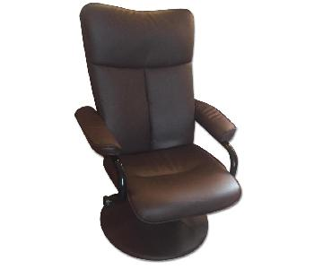 Bonded Leather Swivel Chair