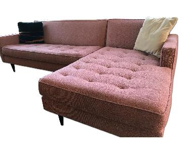 Room & Board Reese Sectional in Tatum Spice