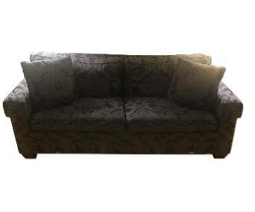 Baker Navy Floral Loveseat w/ Pull-Out Bed