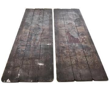 Decorative Painted Reclaimed Wood Boards
