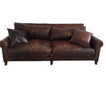 Ralph Lauren Brown Leather Sofa