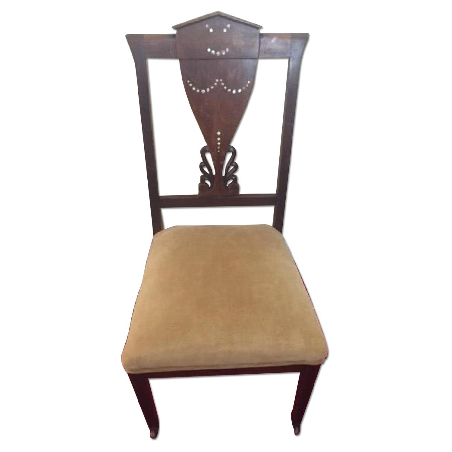 Antique Chair w/ Mother of Pearl inlay