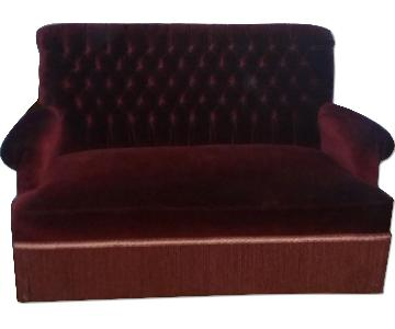 Velvet Ruby Couch + 2 Side Chairs