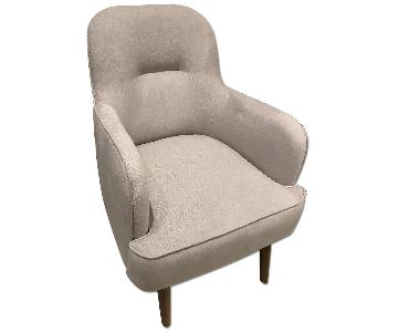 Beige Cotton Arm Chair