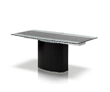 Modrest Remix Modern Extendable Glass Dining Table