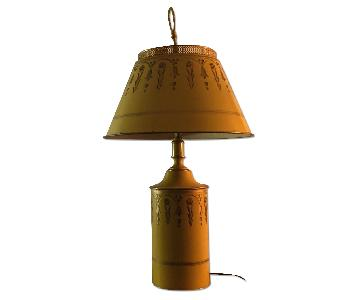 Vintage Tin Table Lamp