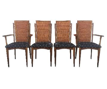Mid Century Cane Back Dining Chairs