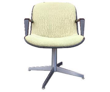 Steelcase Mid Century Green Swivel Desk Chair