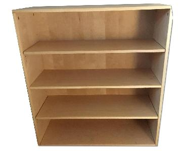 Maxtrix Natural Hardwood 4-Shelf Bookcase