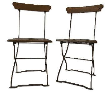 Antique French Folding Cafe Chairs