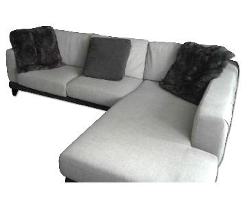 Abbyson Verona Fabric Sectional Sofa