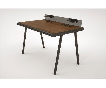 Henner Jahns Walnut & Black Steel Desk