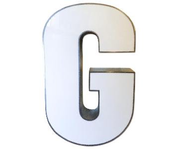 Metal Letter G Decor
