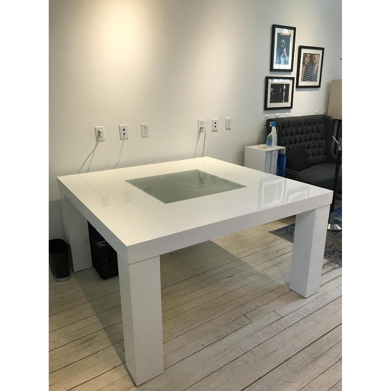 White Dining Table fice Desk AptDeco