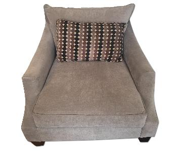 Cort Grey Fabric Arm Chair