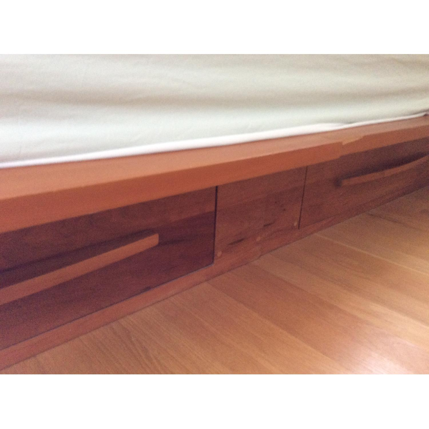 pompanoosuc mills cherry king storage bed frame 2 - Cherry Bed Frame