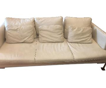 BoConcept White Leather Sofa