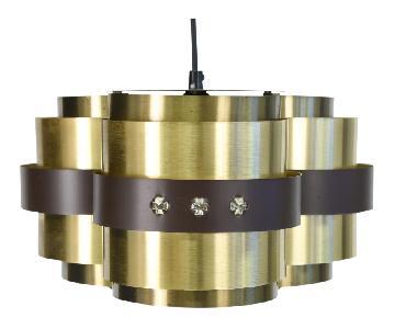 Verner Schou for Coronell Elektro Brass Lamellae Pendant