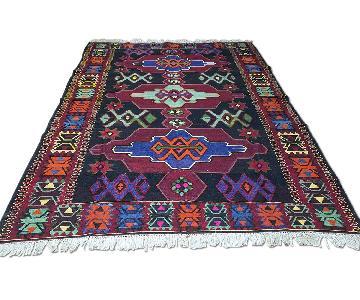 Turkish Vintage Hand-Woven Kilim Rug