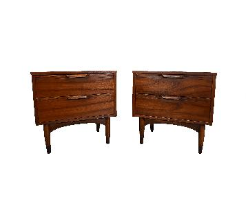 Walnut Mid Century Modern Side Tables/Nightstands