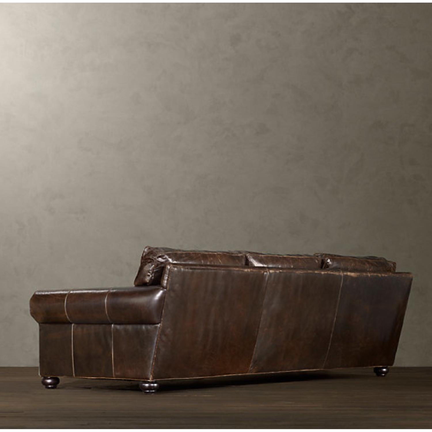 Restoration Hardware Lancaster Leather Sofa Aptdeco